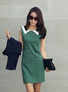 Green 60's Style Dress