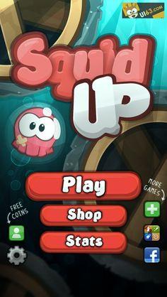 手机游戏ui《squidup》界面设计-