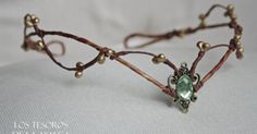 Liked on Pinterest: handmade woodland tiara  can be adjust on the back with a lace  made to order