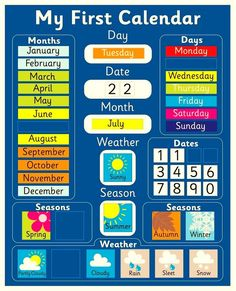 My first weather calendar
