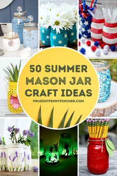 Get crafty and celebrate summer with these DIY Mason jar summer crafts. Fromcoastal mason jar crafts to floral mason jar centerpieces, there are plenty of DIY crafts for summer to choose from. These mason jar craft ideas also make great DIY summer decorations for the home. Mason Jar Centerpieces, Mason Jar Candles, Painted Mason Jars, Mason Jar Crafts, Mason Jar Diy, Summer Diy, Summer Crafts, Sewing For Beginners Diy, Mason Jar Fairy Lights