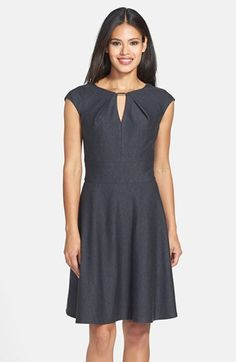 Donna Ricco Textured Knit Fit & Flare Dress available at #Nordstrom