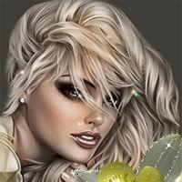 Анимация Красивая девушка блондинка с голубыми глазами с цветком, гифка Красивая девушка блондинка с голубыми глазами с цветком