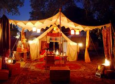 medieval tent at night.  Great blog - check it out! I'm going to need a truck. A BIG truck. And like...five strong men to help me... >__>