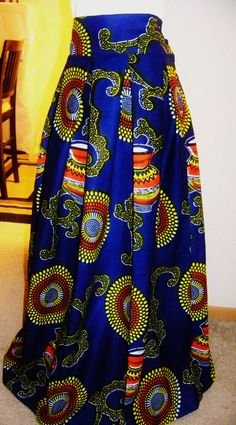 AFRICAN WAX PRINT Skirt  Ankara African Skirt by ANMARIKEDECORPLUS