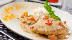 Aurinkoinen ananasbroileri Risotto, Curry, Meat, Chicken, Koti, Ethnic Recipes, Pineapple, Red Peppers, Curries