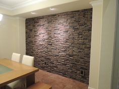 Finally Found A Cheap Thin Version Of Faux Stone Veneer The Base Of My Kitc