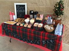 Hot Chocolate Bar! Neighborhood holiday party.