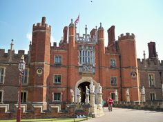 Hampton Court Palace, England, built by Cardinal Wolsey, confiscated by Henry VIII and the home of the English monarchs until George II...