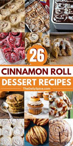 26 Delicious Cinnamon Roll Dessert Recipes - The Daily Spice - Cinnamon Roll Dessert Recipes – the perfect way to satisfy your sweet tooth! Quick Cinnamon Rolls, Cinnamon Roll Muffins, Cinnamon Roll French Toast, Pumpkin Cinnamon Rolls, Cinnamon Recipes, Baking Recipes, Dessert Recipes, Breakfast Recipes, Vegan Recipes