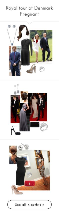 """Royal tour of Denmark Pregnant"" by kimmeke-sascha ❤ liked on Polyvore featuring Issa, Nicholas Kirkwood, Reception, Other, prince harry, Yves Saint Laurent, Jimmy Choo, RED Valentino, Sergio Rossi and Raoul"