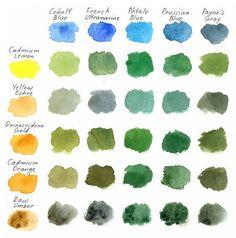 93 отметок «Нравится», 1 комментариев — КУРСЫ. СТУДИЯ РИСОВАНИЯ В СПБ (@cleverstudia) в Instagram: «Зелёная зелень зеленит Мы нашли для вас восхитительную шпаргалку по смешению цветов для получения…»