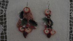 traditional turkish oya asymmetrical earrings by CiciByMuy on Etsy, $10.00