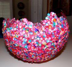 vaso de confetes