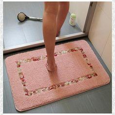 Pink Floral Bathroom Rugs