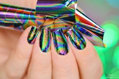 Oil spill / oil slick nails  by simplynailogical Watch the video tutorial: https://youtu.be/ufkpxGJqrg0