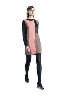 Raoul Fall Winter 2012 - Eclectic dress.  Graphic color block dress with leather details  $144