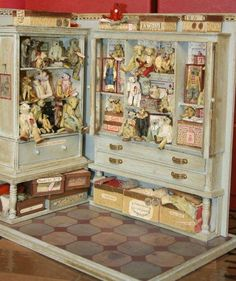 Shelves for antique dolls and clothes