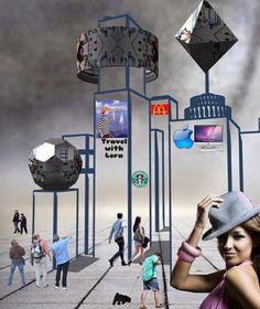 Willkommen in meiner Stadt  Bazaart-Collage von Gerd Schremer  @bazaart