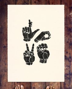 LOVE. ASL - great for V Day or any time!
