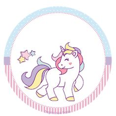 Unicorn: Free Printable Toppers and Wrappers for a Birthay Party. - Oh My Fiesta! in english