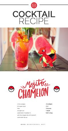 Party drink Bartenders - 5 Cocktails Every Pokémon Trainer Should Try. Fun Drinks Alcohol, Alcohol Drink Recipes, Liquor Drinks, Yummy Drinks, Disney Alcoholic Drinks, Bourbon Drinks, Beverages, Pokemon Birthday, Pokemon Party