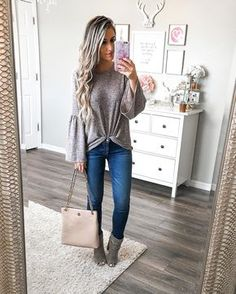 """4958fb66f8c L A U R A B E V E R L I N on Instagram  """"Just give me all the bell sleeve  sweaters!! This one is sooo soft and lightweight--perfect to wear now and  in the ..."""