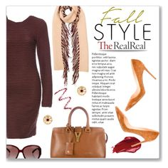 """Fall Style With The RealReal: Contest Entry"" by einn-enna ❤ liked on Polyvore featuring Burberry, Christian Louboutin, Yves Saint Laurent, Kimberly Ovitz, Givenchy, Chanel, Urban Decay and Topshop"