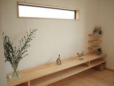 作り付けのテレビボード。床から浮いているので広く見え、お掃除も楽々です。 House Interior, Shop Interiors, Wall Cabinet, Tv Wall Cabinets, Home, Minimalist Home Interior, Interior And Exterior, Minimalist Home, Home Decor