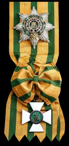 LUXEMBOURG - Grand Duchy, Order of the Oak Crown, Grand Cross set of Insignia, 57mm, silver-gilt and enamel; Star, 90mm
