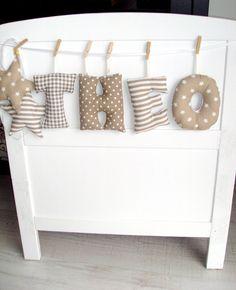 NEU <3 süße Verzierung von Namen von Babypullover-Dekoration auf DaWanda.com