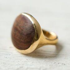 Brass & Wood Ring