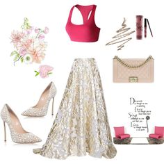 A fashion look from September 2016 by yogareflex featuring Lela Rose, Casadei…