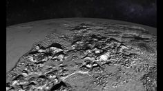 This simulated flyover of Pluto's Norgay Montes (Norgay Mountains) and Sputnik Planum (Sputnik Plain) was created from New Horizons closest-approach images.