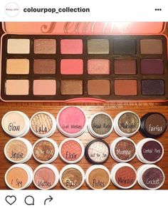 Too Faced Peach Palette with Colourpop dupe shades