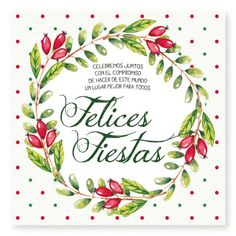Happy Holidays Watercolor Box - Cards for Christmas and New Year - Oscar Wallin Merry Christmas In Spanish, Merry Christmas Card, Merry Christmas And Happy New Year, Christmas Greeting Cards, Christmas Pictures, Christmas Greetings, Happy Holidays, Christmas Time, Instagram