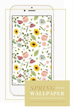 Inject some beauty in to your everyday & celebrate the coming of Spring with this FREE Spring Florals wallpaper sized for computers & phones!