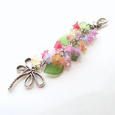 dragonfly purse bag charm flower purse charm by jinjajewellery, £8.00