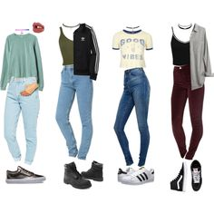 90s Outfits by stellaluna899 on Polyvore featuring RVCA, Topshop, Madewell, Miss Selfridge, American Apparel, ASOS, adidas Originals, Wet Seal, Timberland and Vans