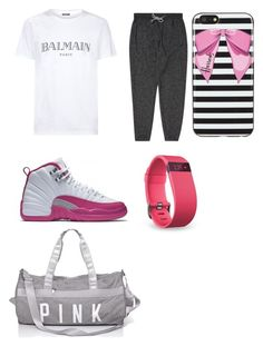 #bts by bluesimmone on Polyvore featuring polyvore, Billabong, Harrods, Fitbit, Balmain, fashion, style and clothing