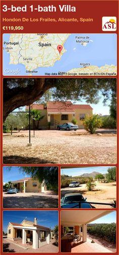 3-bed 1-bath Villa in Hondon De Los Frailes, Alicante, Spain ►€119,950 #PropertyForSaleInSpain