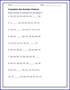 New September   Algebra Worksheet  Using The