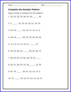 math worksheet : 1000 images about patterning on pinterest  number patterns skip  : Grade 5 Math Patterning Worksheets