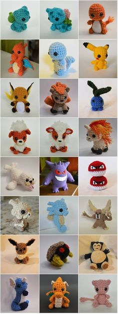 All of the crochet Pokemon! by LoopTeeLoops on DeviantArt All of the crochet Pokemon! by on The post All of the crochet Pokemon! by LoopTeeLoops on DeviantArt appeared first on Poke Ball. Crochet Beanie, Knit Or Crochet, Crochet Gifts, Easy Crochet, Crochet Toys, Free Crochet, Pokemon Crochet Pattern, Pikachu Crochet, Crochet Patterns