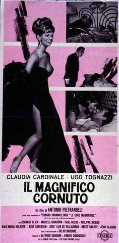 Il magnifico cornuto 1965 di Antonio Pietrangeli con Claudia Cardinale e Ugo Tognazzi.