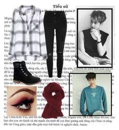 """Winter Stroll To Starbucks With Lay  ❤❤"" by random-alec ❤ liked on Polyvore featuring River Island, Rails, Charlotte Russe and Timberland"
