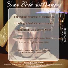 Private Spa: romanticismo a lume di candela, finger food nella privacy della vostra suite e un percorso relax....
