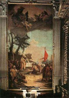 The Sacrifice of Melchizedek - Giovanni Battista Tiepolo.  1740-42.  Oil on canvas.  1000 x 525 cm.  Parrocchiale, Verolanuova, Italy.