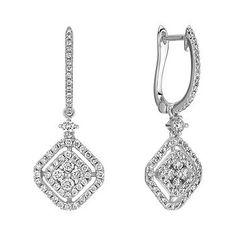 Vintage Diamond Cluster Earrings  sponsored by Shane Co