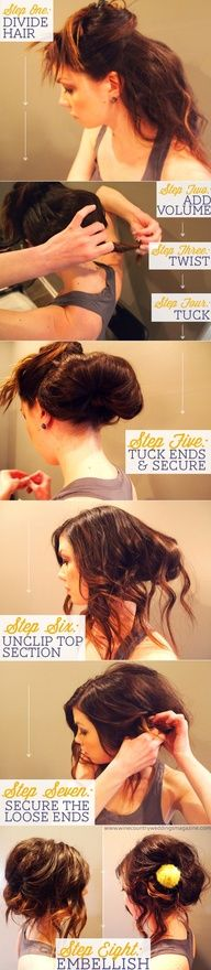 Cute updo tutorial